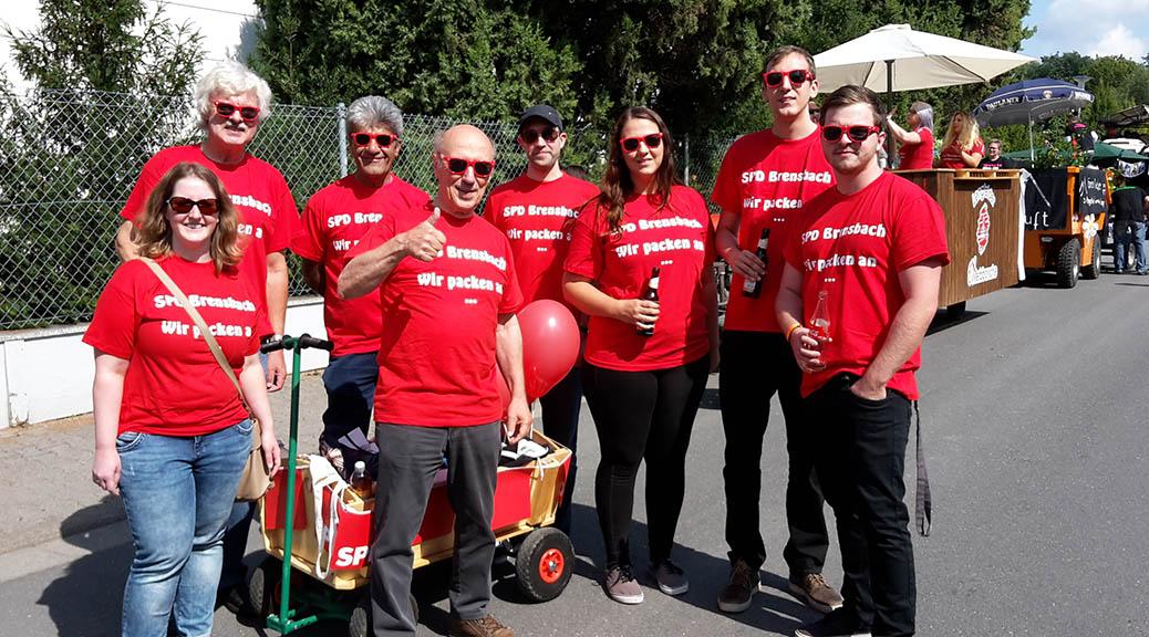 Brensbacher SPD nimmt am Kerbumzug teil
